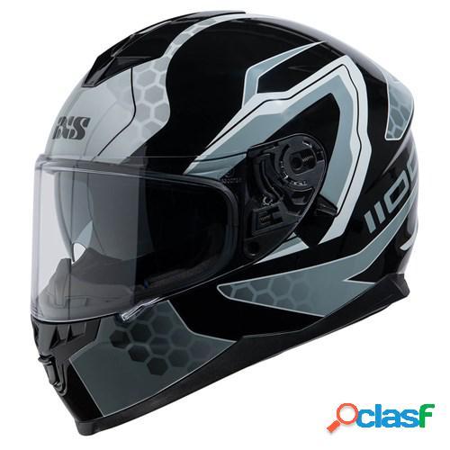 Ixs 1100 2.2, casque moto intégral, noir gris