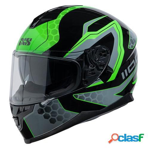 Ixs 1100 2.2, casque moto intégral, noir vert