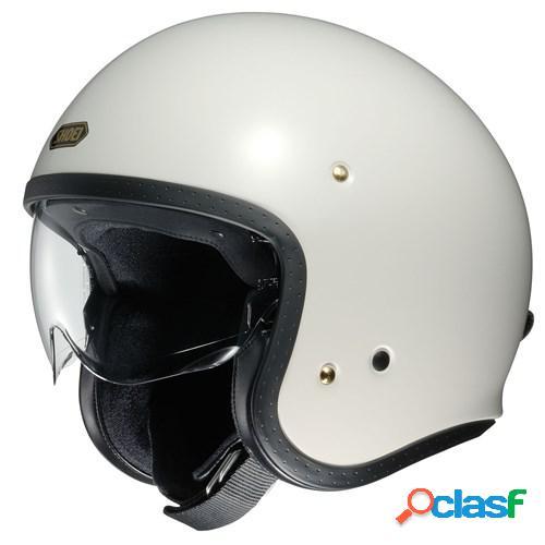 Shoei j.o, casque moto jet, blanc cassé
