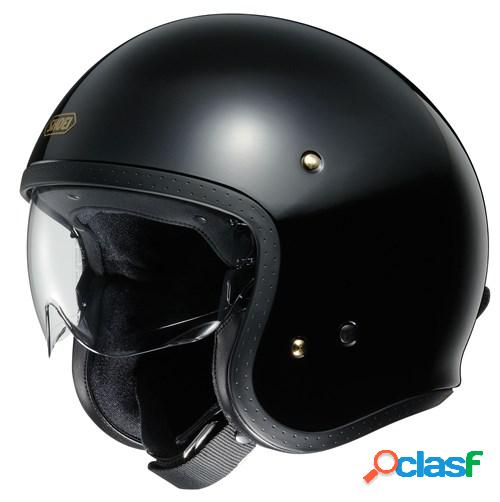 Shoei j.o, casque moto jet, noir