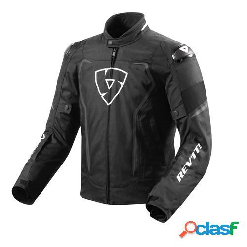 Rev'it! vertex h2o, veste moto textile hommes, noir