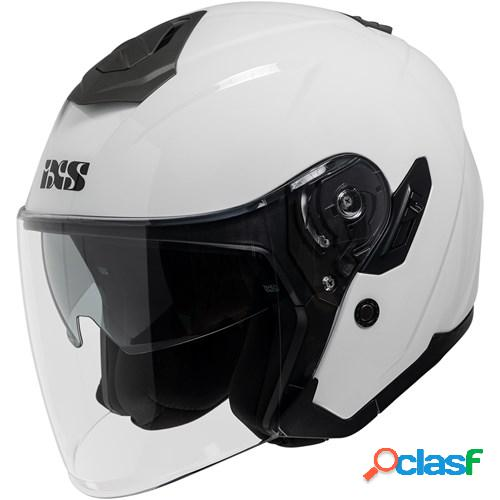 Ixs 92 fg 1.0, casque moto jet, blanc