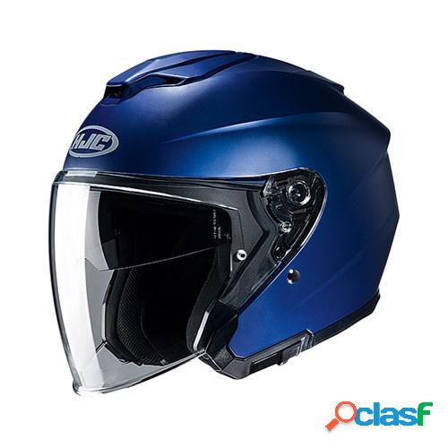Hjc i30, casque moto jet, mat bleu