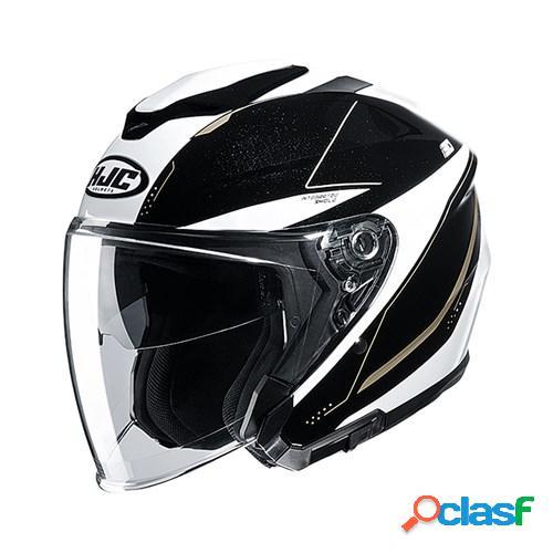 Hjc i30 slight, casque moto jet, blanc noir