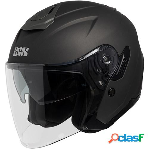 Ixs 92 fg 1.0, casque moto jet, mat gris