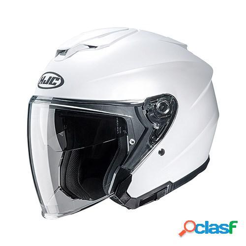 Hjc i30, casque moto jet, blanc