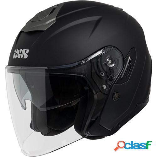 Ixs 92 fg 1.0, casque moto jet, mat noir