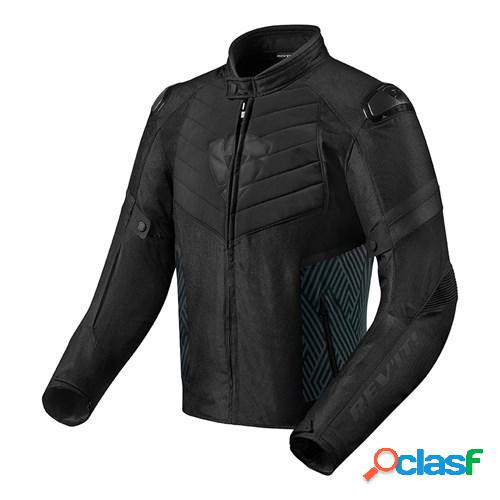 Rev'it! arc h2o, veste moto textile hommes, noir