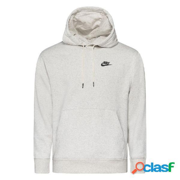 Nike sweat à capuche nsw revival - blanc/multicolor/gris