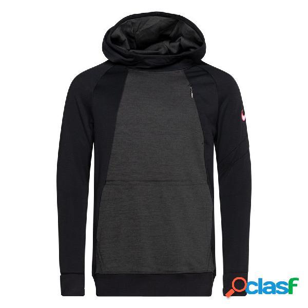 Nike sweat à capuche academy pro dry - noir/gris/rose enfant