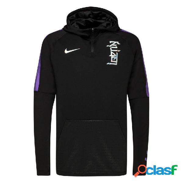 Nike sweat à capuche dry lbj x km chosen 2 - noir/violet/hologramme édition limitée