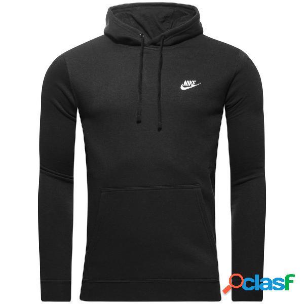 Nike sweat à capuche nsw fleece - noir/blanc