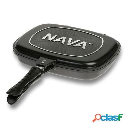 Poêle grill double face Nava 32cm - anti-adhésive