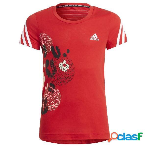 adidas T-shirt 3-stripes Graphic Rouge Enfant