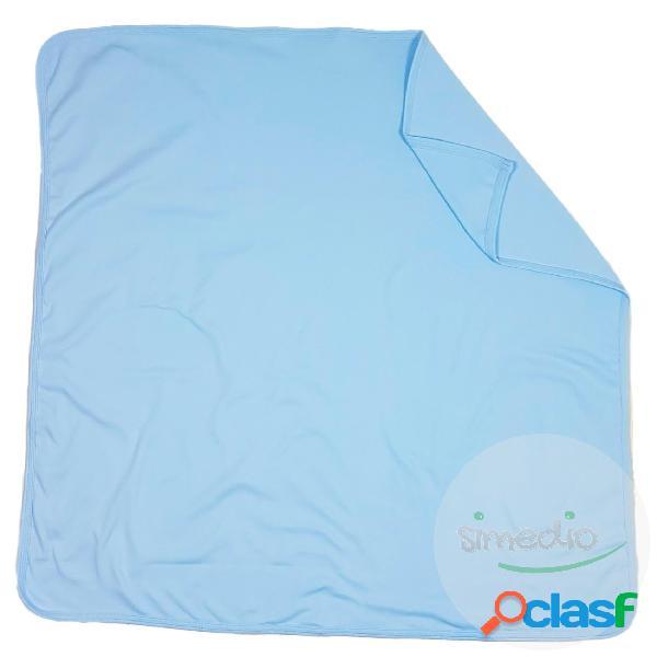 Couverture bébé en 100% coton (4 couleurs disponibles) - bleu