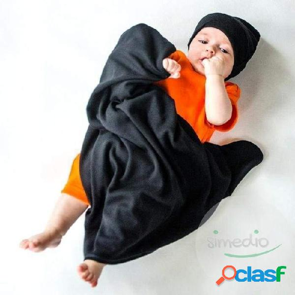 Couverture bébé noire en 100% coton - noir