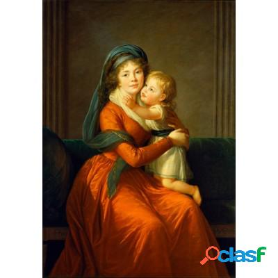 Louise-Élisabeth Vigee le Brun: Princesse Alexandra Golitsyna et son fils Piotr, 1794
