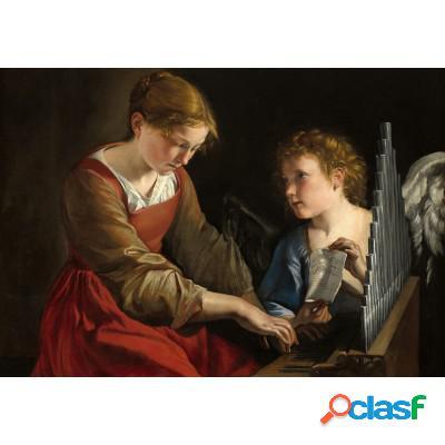 Orazio Gentileschi et Giovanni Lanfranco: Sainte Cecilia et un Ange, 1617/1618