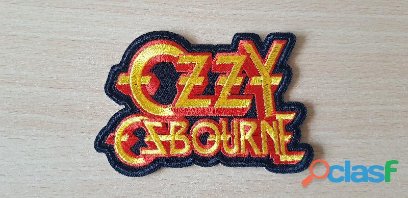 écusson brodé Ozzy Osbourne 10x7 cm thermocollant, pas besoin de couture