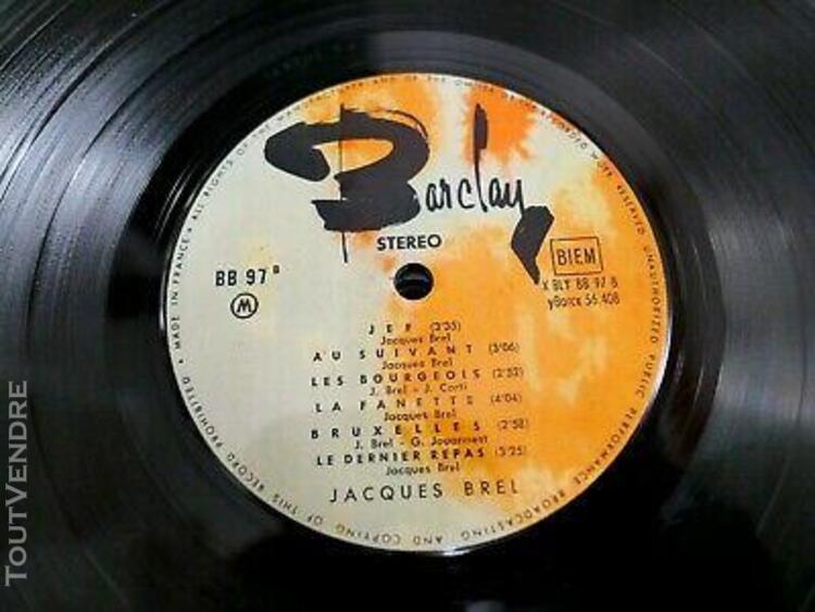 Jacques brel chante en multiphonie stereo lp 33t vinyle ex c
