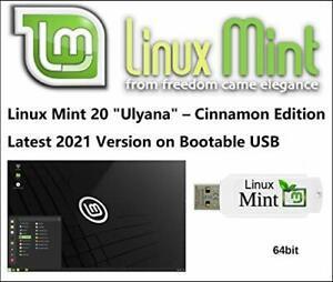 Linux mint 20 'ulyana' cinnamon 64 bits sur clé
