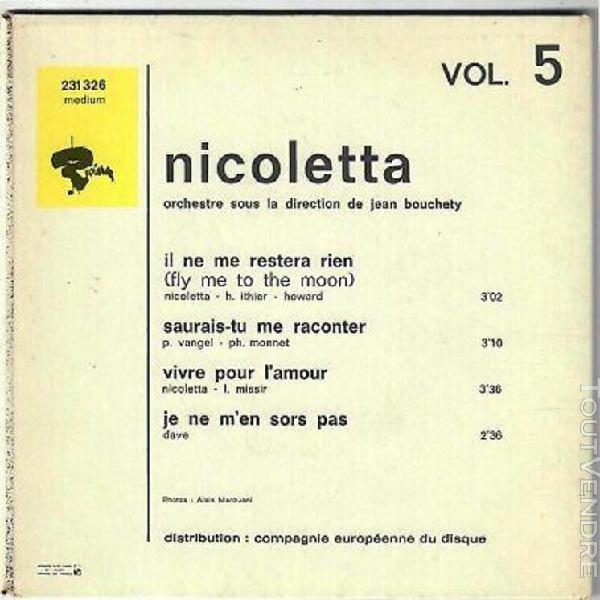 Nicoletta il ne me restera rien vivre pour l'amour 1968 ep f