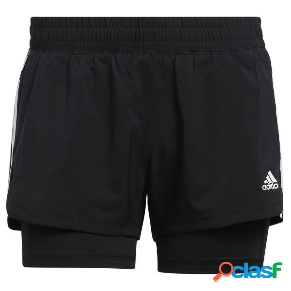 Short pacer 3-stripes woven two-in-one noir - adidas