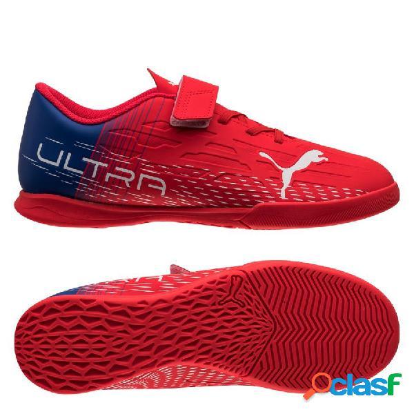 Puma ultra 4.3 it v faster football - rouge/blanc enfant - terrain futsal (ic)