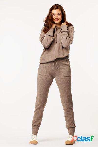 Hema pantalon lounge femme marron (marron)