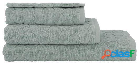 Hema serviettes de bain - qualité épaisse - à pois vert clair (vert clair)