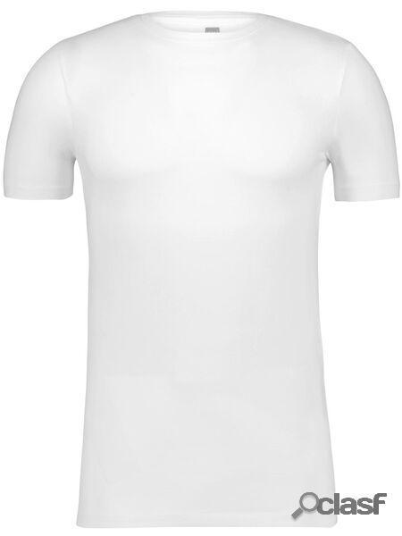 Hema t-shirt homme slim fit col rond blanc (blanc)