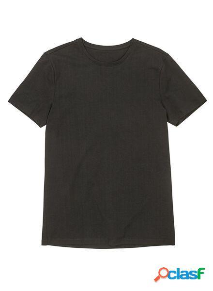 Hema t-shirt homme slim fit col rond noir (noir)