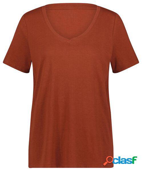 Hema t-shirt femme marron (marron)