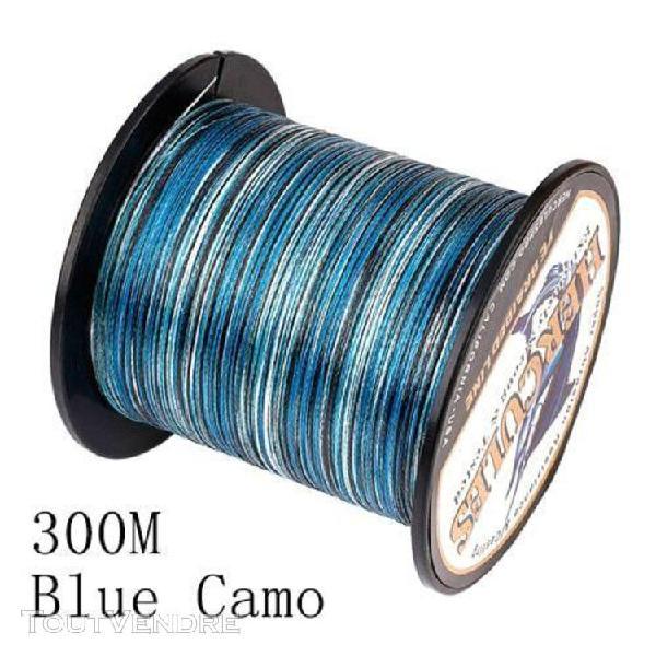 300m blue camo-12.0 -fil de pêche tressé de haute