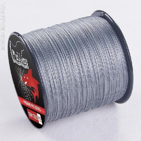 Gris clair-300m-60lb -fil de pêche tressé en fiber