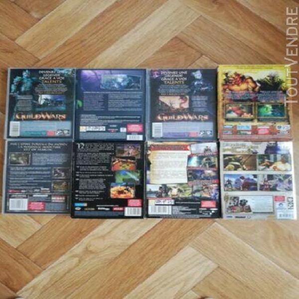 Lot de 8 jeux vidéo pour pc (rift, guild wars, titan quest,