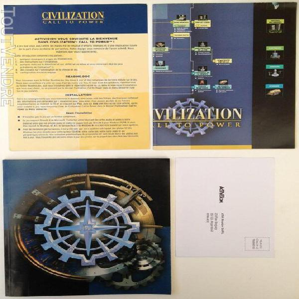 Pc notice civilisation call to power big box manuel instruct