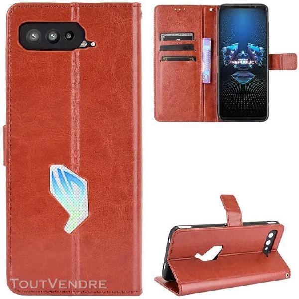 Pour asus rog phone 5 case [fermeture magnetique] etui porte