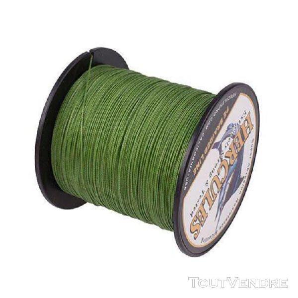 Vert militaire-40 lb -fil de pêche multifilament 8 brins