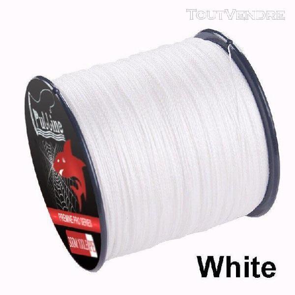 White-300m-70lb -ligne de pêche tressée multicolore à 4