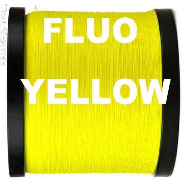 Yellow-1.0-grande ligne -corde de pêche tressée pe