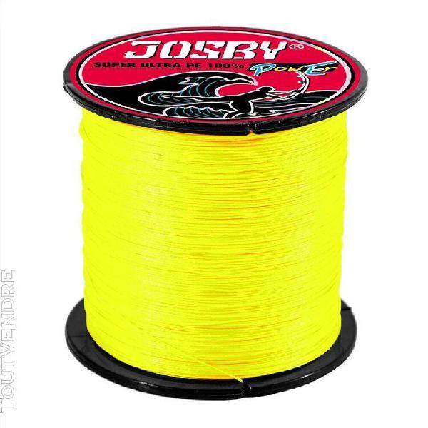 Yellow-4 strands 500m 3.0 -nouvelle ligne de pêche tressée