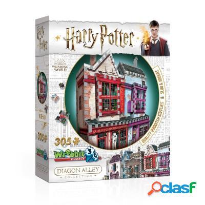 Puzzle 3D - Harry Potter (TM) - Magasin d'Accessoires de Quidditch et Slug & Jiggers
