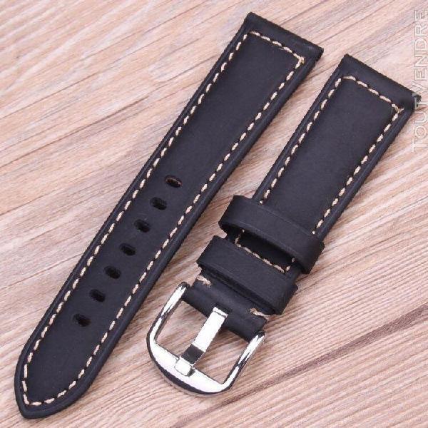 Bracelets de montre en cuir véritable d'italie, disponible