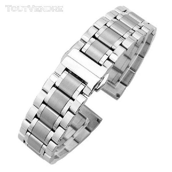 Bracelets de montre en métal pour femmes, 18mm 24mm, mode
