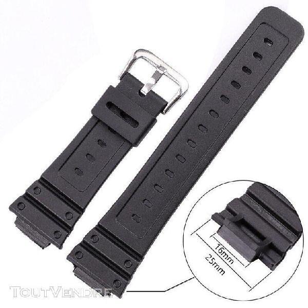 Bracelets de montre en silicone pour hommes, bracelet de spo