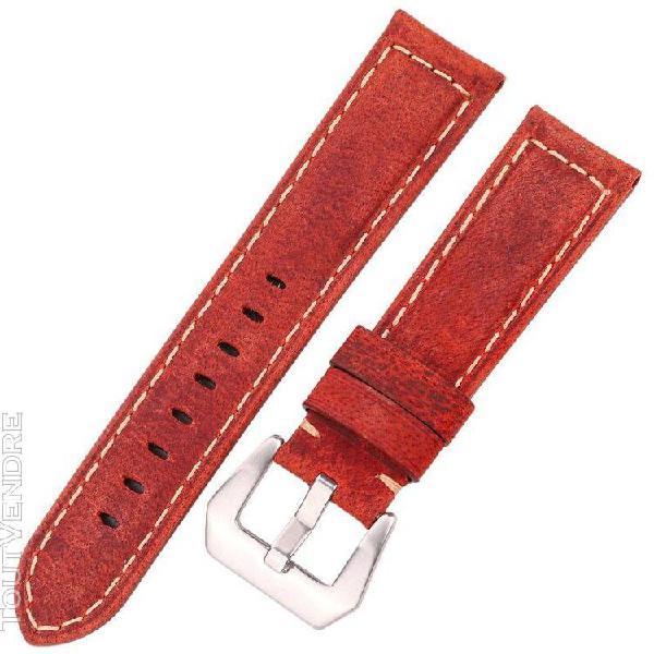Bracelets de montre rétro en cuir véritable fait à la
