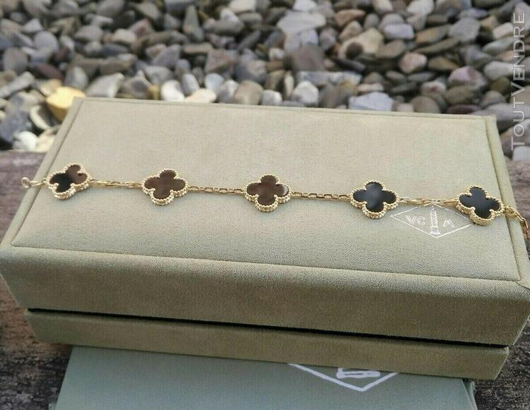 For van cleef & arpels vintage alhambra black onyx 5 motif b