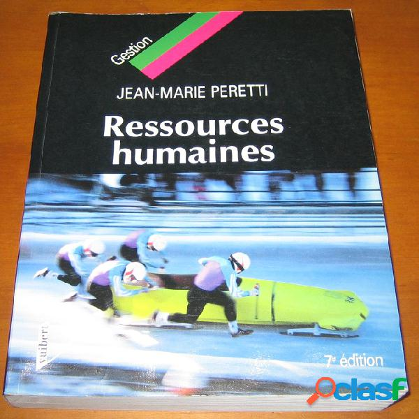 Ressources humaines, jean-marie peretti