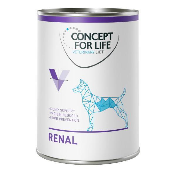 Concept for life veterinary diet renal pour chien